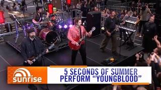 "5SOS perform ""Youngblood"" on Australian TV | Sunrise"