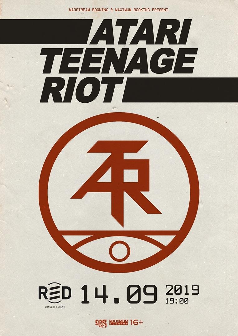 Афиша ATARI TEENAGE RIOT (DE) // 14.09.19 // Мск (Red)