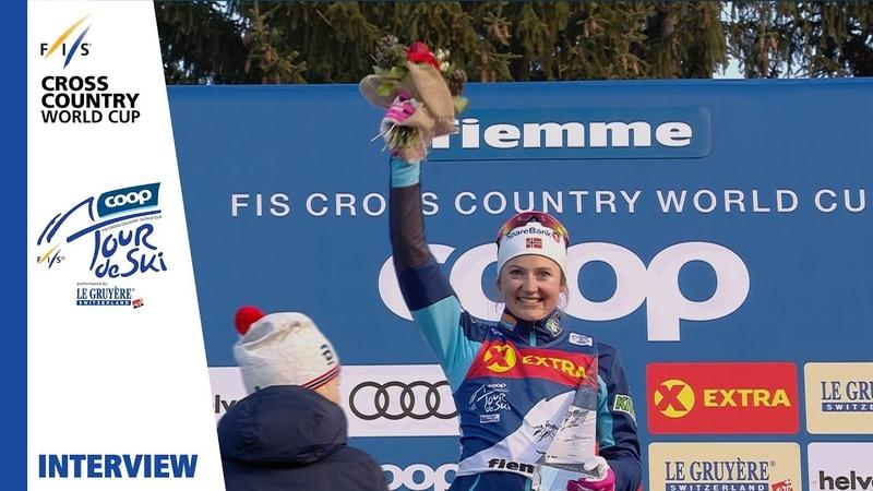 Ingvild F Østberg My dream came true Val di Fiemme Ladies' Pursuit FIS Cross Country