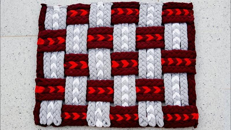 DIY How to make Doormat, Area rug, Floor mat | کاردستی، ساخت پای پاک از لباس های ک16