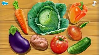 Умный ребенок. Изучаем овощи на грядке. Познавательный обучающий мультик для детей-малышей..