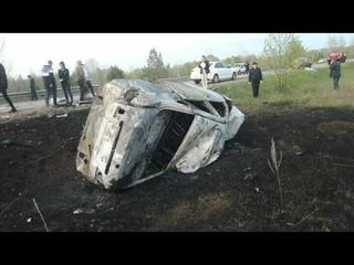 г- двое взрослых и двое детей погибли в результате огненного дтп в республике Татарстан.