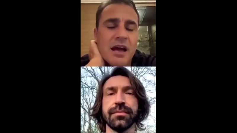 Pirlo in diretta con Cannavaro pochi mesi fa mp4