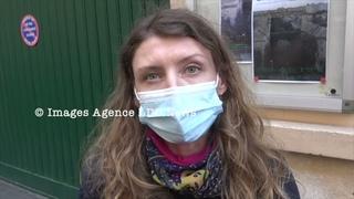 Des Gilets Jaunes Constituants devant l'ambassade de Roumanie. Paris/France - 17 Avril 2021