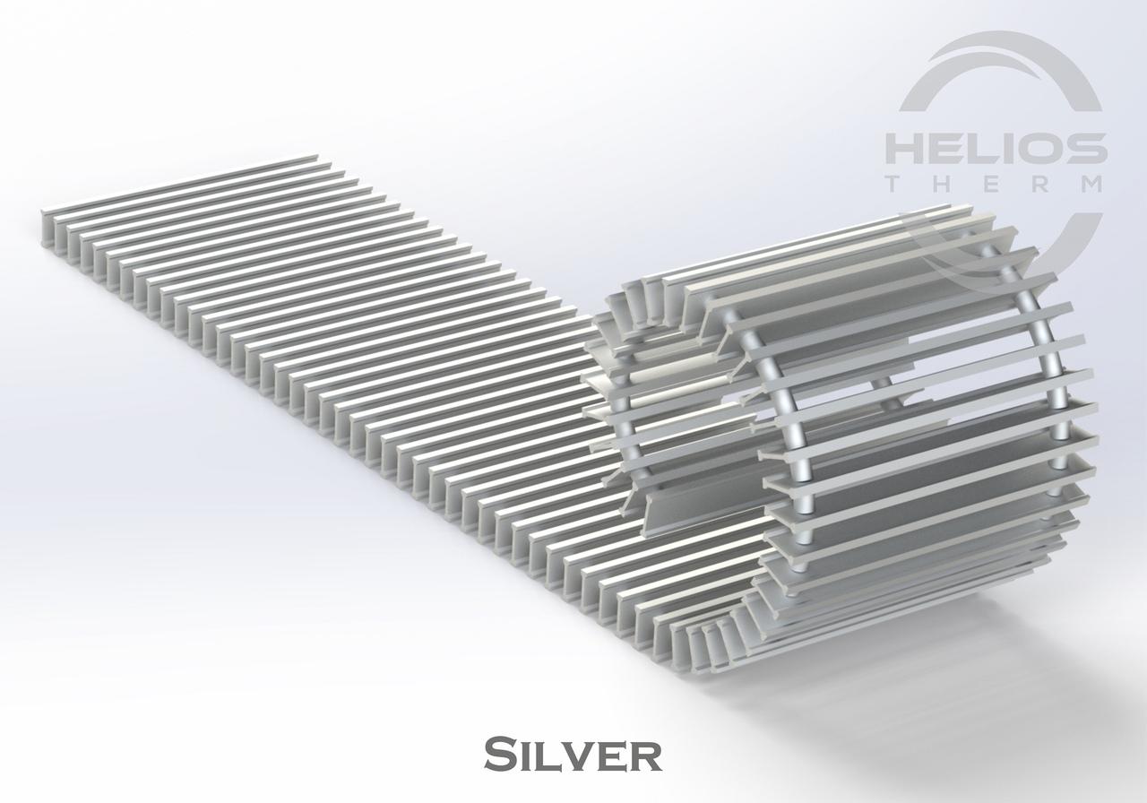 Решетка конвектора Helios Therm Silver