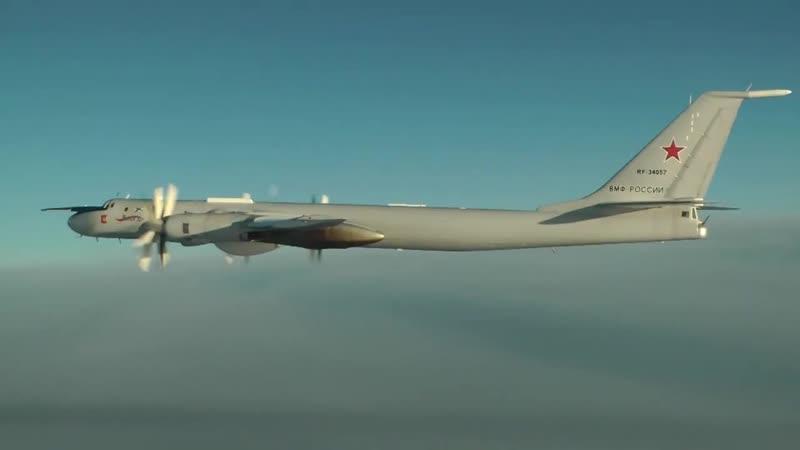 Плановый полет Ту-142 над Баренцевым, Норвежским, Северным морями и Атлантическим океаном