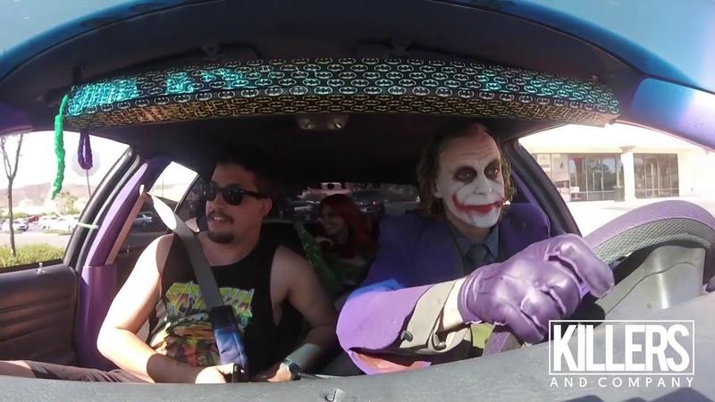 Джокер троллит пассажиров Пранк Joker Urban Prank