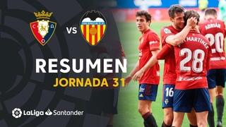 Resumen de CA Osasuna vs VALENCIA CF (3-1)
