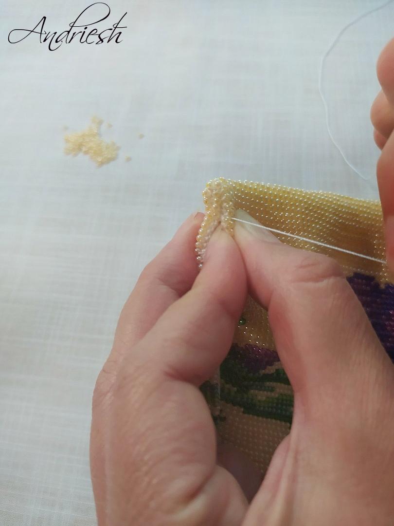 Как я сшиваю донышко и вшиваю в сумки подклад и фермуар., изображение №5
