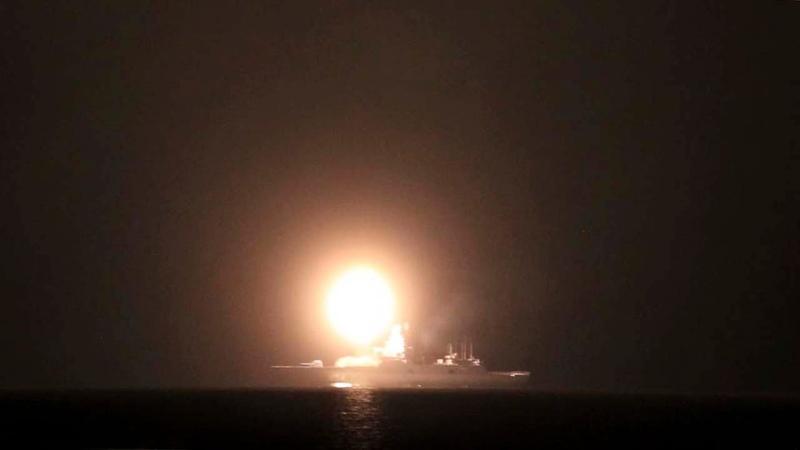 Фрегат Адмирал Горшков выполнил испытательную ракетную стрельбу в Белом море