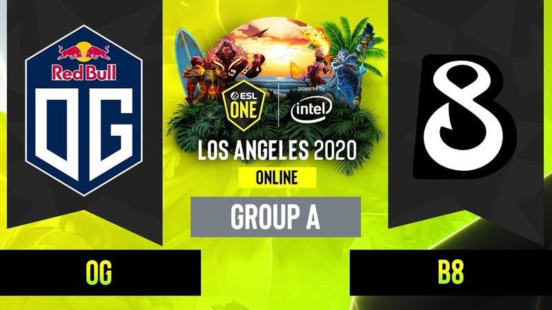 Dota2 - OG vs. B8 - Game 2 - Group A - EUCIS - ESL One Los Angeles