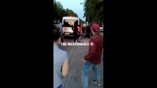 Под крики «Ганьба» белорусские майданщики отбили задержанных у милиции