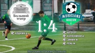 (ОБЗОР МАТЧА) Большой театр - ФК Музыканты Москвы