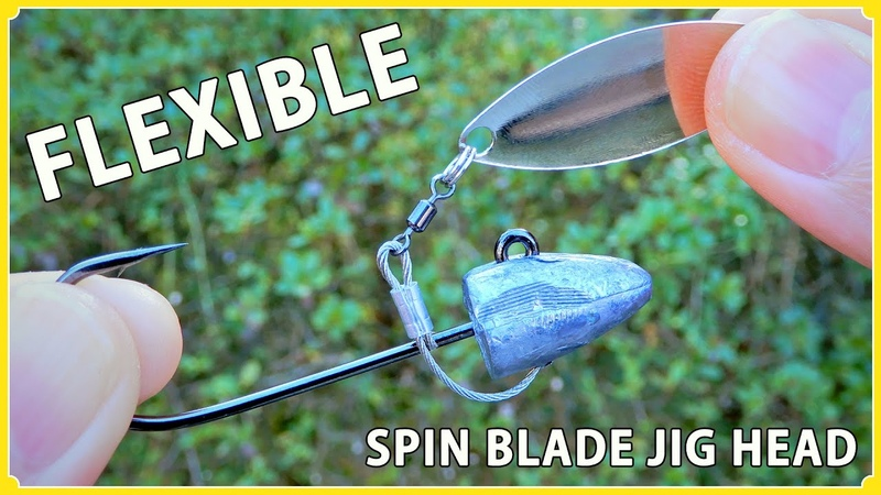 How to make a spinner jig head of flexible arm using a wire rope 柔軟性のあるスピナーブレード付きジグヘッドの作り方