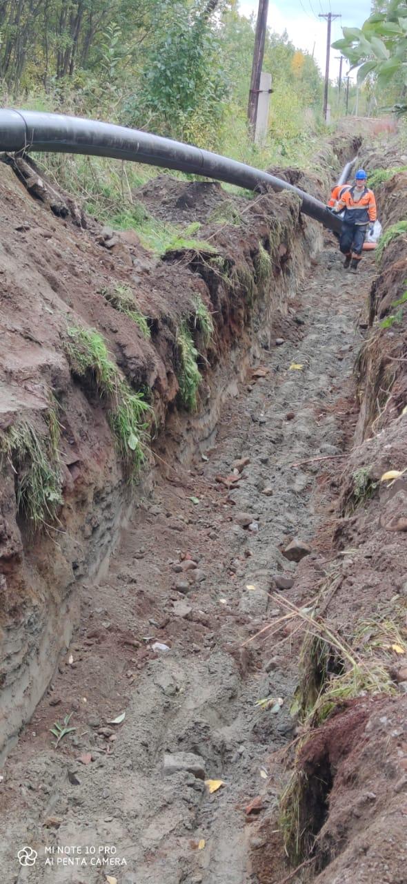 Завершение капитального ремонта напорного канализационного коллектора Ст. Апатиты