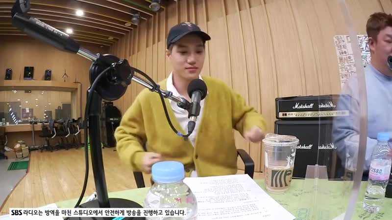 201201 Kai на радио SBS R Power FM Jeong Chan Woo and Kim Tae Gyun's CulTwo Show