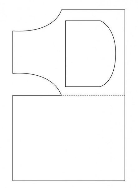 Открытка-фартук + шаблон